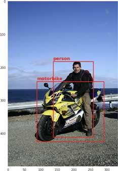 一个人和一辆摩托车的训练图