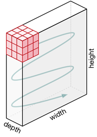 The convolution kernel